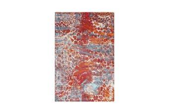 AquaSilk Multi Animal Print Abstract Rug - 250x350
