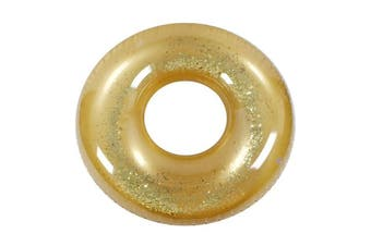 Metallic Glitter Swim Ring Gold