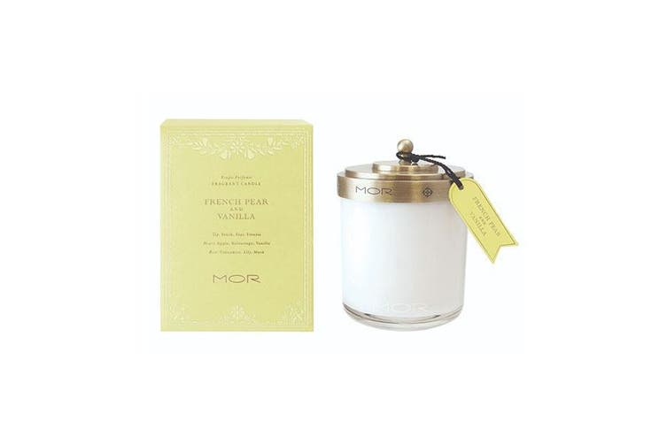 Mor Fragrant Candle 380G French Pear And Vanilla