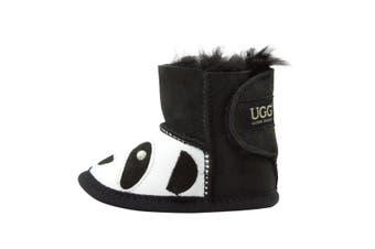 Baby Panda Ugg Boot Black