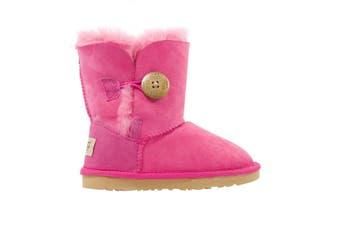 UGG Kids Button Sheepskin Boots Bao Pink