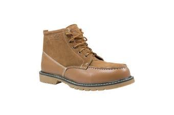 Auzland Ugg Lace Up Leather Boot Wool Lining Chestnut