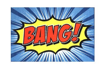 Graphic Art Comic Book BANG 100x150cm Area Rug