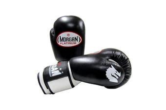 Morgan V2 Platinum Leather Sparring Gloves Black