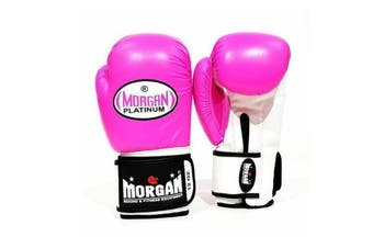Morgan V2 Platinum Leather Sparring Gloves Fluro Pink