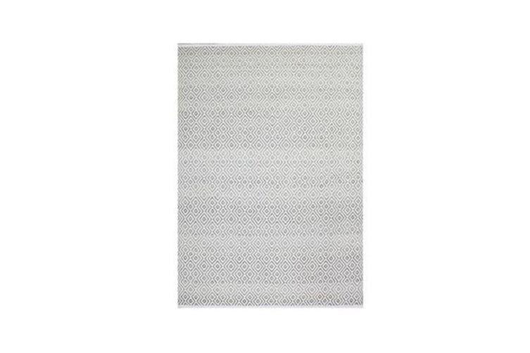Balinese White Minimalist Rug - 240 x 320 cm