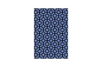 Botticelli Grid Blue Rug - 165 x 235 cm