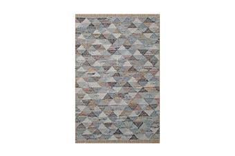 Grey Triangle Flatweave Rug - 155 x 225 cm