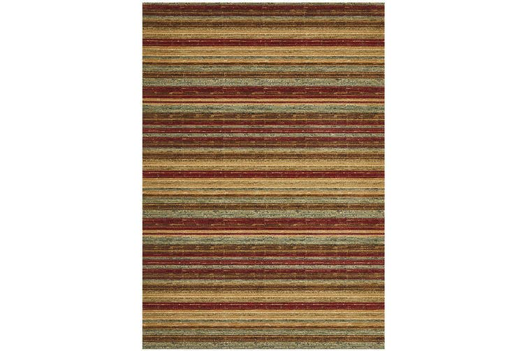 Byblos Rustic Stripe Stripped Red Rug - 230X160CM