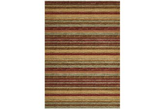 Byblos Rustic Stripe Stripped Red Rug - 290X200CM