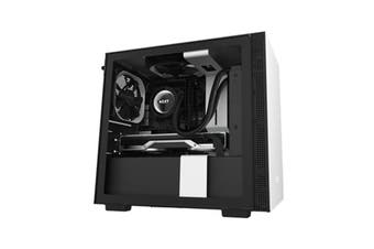 Nzxt H210 Mini Itx White Black Chassis With 2X 120Mm Aer F Case Fans