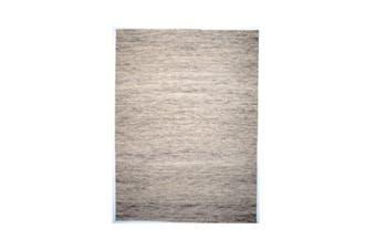 Capri Light Grey Wool Rug - 190 x 270 cm