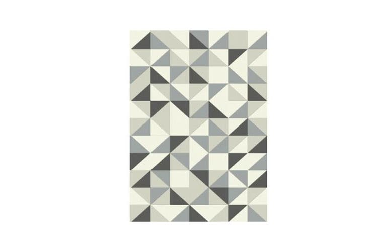 Canvas Grey Triangle Rug
