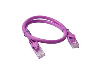 Cat 6a UTP Ethernet Cable, Snagless - Purple
