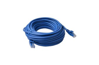 8Ware Cat6A Utp Ethernet Cable 15M Snagless Blue