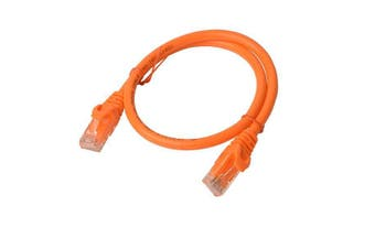 Cat 6a UTP Ethernet Cable, Snagless - Orange - 1m