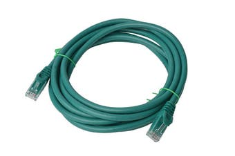 Cat 6a UTP Ethernet Cable, Snagless  - 3m Green