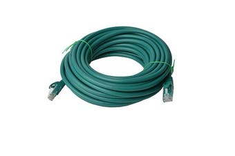 Cat 6a UTP Ethernet Cable, Snagless  - 40m Green