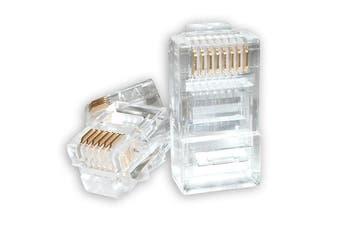 RJ45 Connector Modular Plug Crimp 8P8C CAT5e LAN Network Ethernet Head