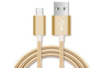 Micro USB Data Sync Charger Cable Cord - Gold - 2M