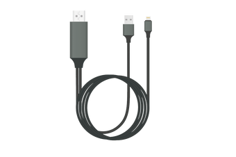 Plug & Play Lightning to HDMI Cable in 2m for iPhone & iPad