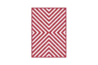 Centra Red Wool Rug - 180 x 270 cm