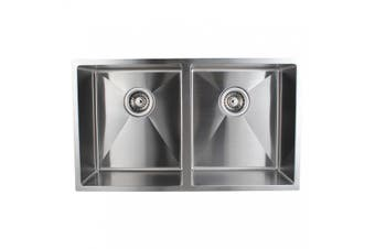 770 X 450 X 215 Mm 1 Mm Handmade Double Bowls Kitchen Laundry Sink