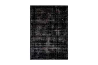 Hampton Black And White Wool Rug