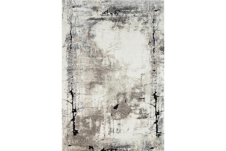 Vision Abstract Beige Grey Rug - 200x290 cm