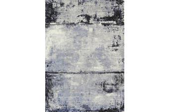 Vision Raw Blue Grey Rug - 80x300 cm