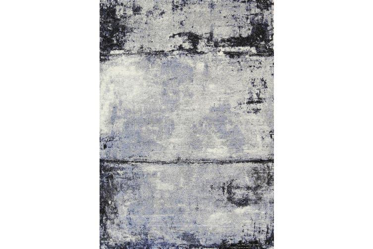 Vision Raw Blue Grey Rug - 80x400 cm