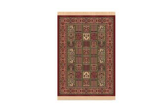 Chiraz Red Round Viscose Rug - 137 x 200 cm