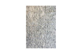 Jute Braided Mohair White And Black Rug 200 x 290 Cm