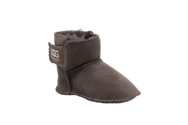Gripper Dots Baby UGG Boot Chocolate - Small 0-3 months