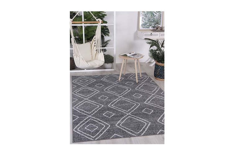 Courtyard Marrakesh Charcoal Rug - 240x330 cm