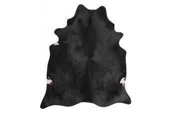 Exquisite Natural Cow Hide Black Rug - 170x120cm