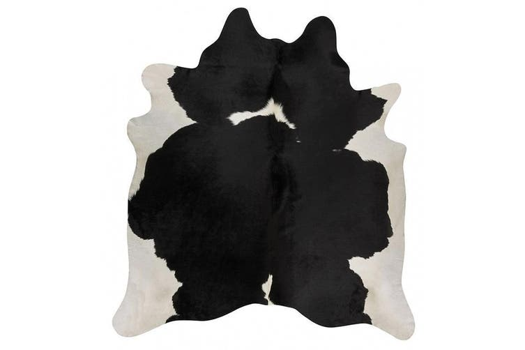 Exquisite Natural Cow Hide Black White Rug - 170x120cm