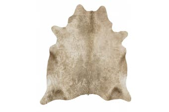 Exquisite Natural Cow Hide Champagne Rug - 170x120cm
