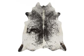 Exquisite Natural Cow Hide Salt & Pepper Black Rug - 170x120cm