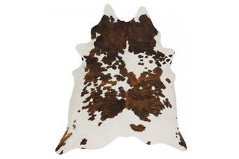 Exquisite Natural Cow Hide Black Tricolor Rug - 170x120cm