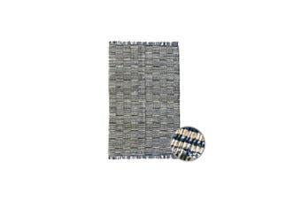 Patches Denim Chindi Indian Design Recycled Floor Rug