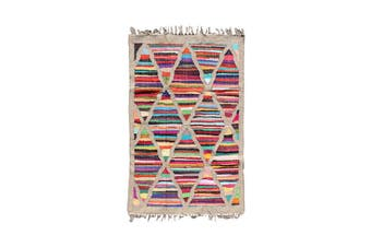 Chindi Sunset Indian Design Recycled Kilim Floor Rug