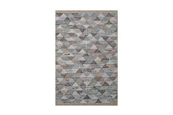 Grey Triangle Flatweave Rug - 200 x 290 cm