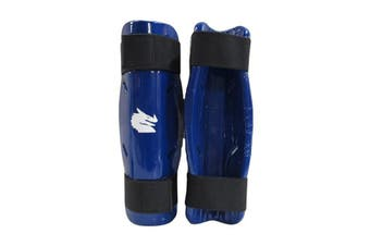 Morgan Dipped Foam Protector Shin Guards Blue