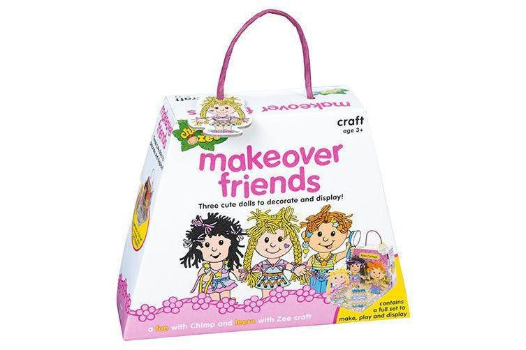 Chimp and Zee Makeover Friends Craft Set Game Preschool Pretend Play