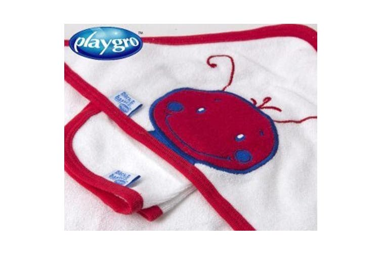 Playgro Buble Bee Hooded Baby Towel & Baby Face Washer Pack