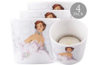 Christopher Vine Design Candle Votive Tea Light Holder - White Wedding