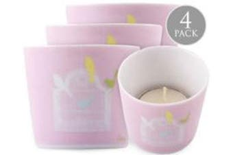 Christopher Vine Design Candle Votive Tea Light Holder - Summer Birds