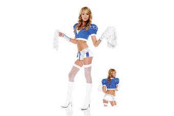 Sideline Sweetheart Costume/ Football Sport Cosplay - Extra Small/Small