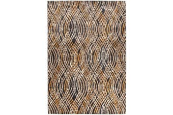 Dreamscape Flurry Modern Charcoal Rug - 330X240CM
